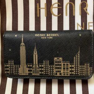Henri Bendel leather wallet with NYC Skyline